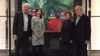 Kleindochter Chagall verrast met bezoek