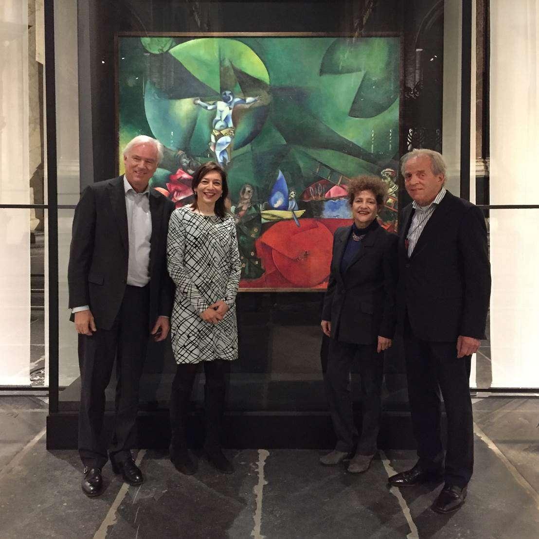 Kleindochter Chagall verrast met onverwacht bezoek