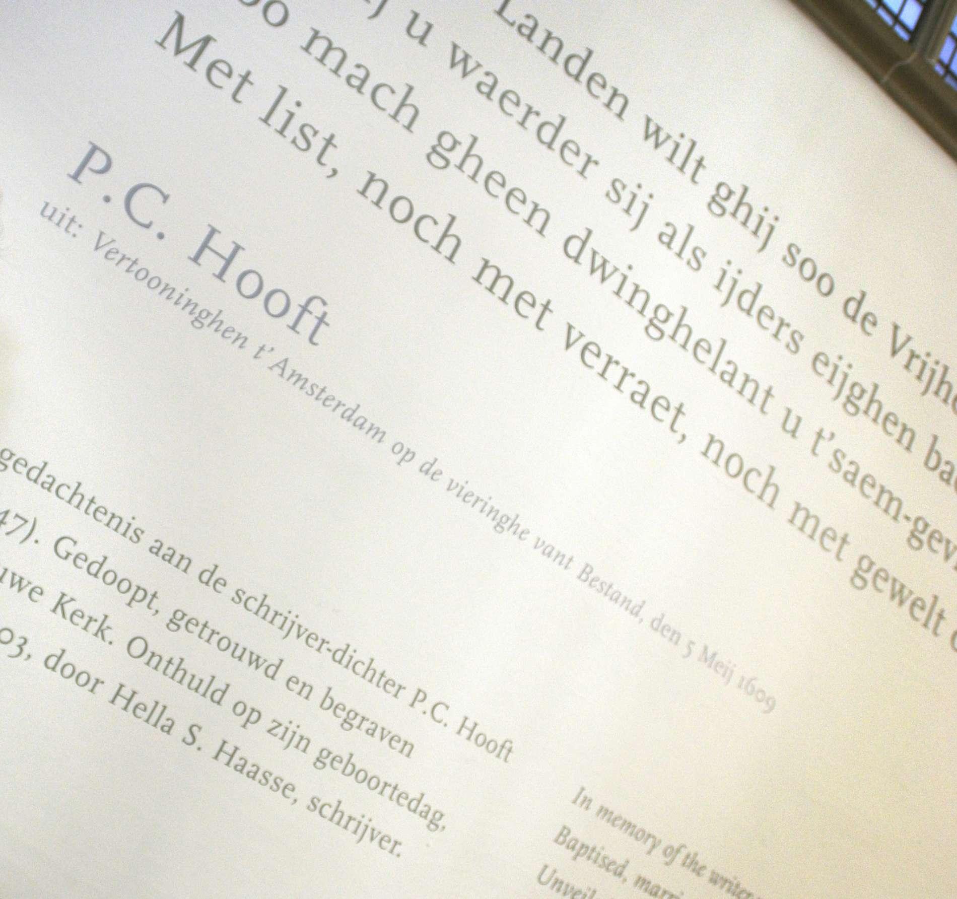 Gedenkteken P.C. Hooft
