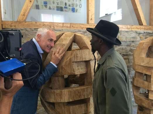 Arthur Japin op reis voor film rondom Afrika-tentoonstelling De Nieuwe Kerk Amsterdam