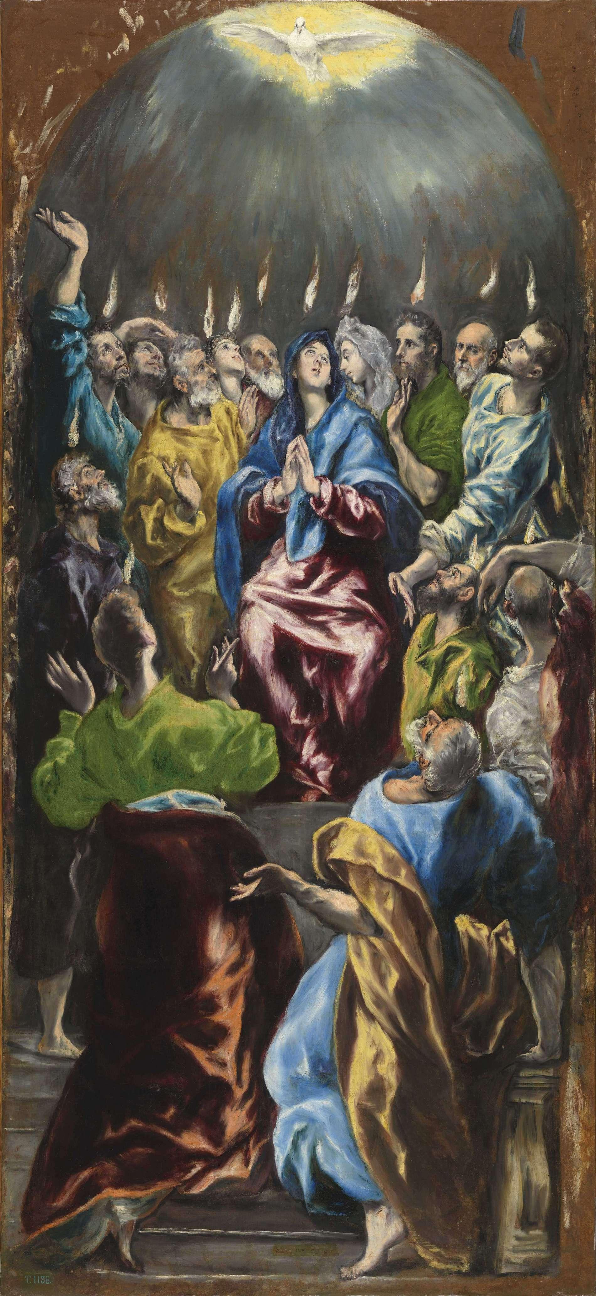 El Greco (1541–1614), Pentecostés, ca. 1600 Olieverf op doek, 275 x 127 cm © Photographic Archive. Museo Nacional del Prado. Madrid